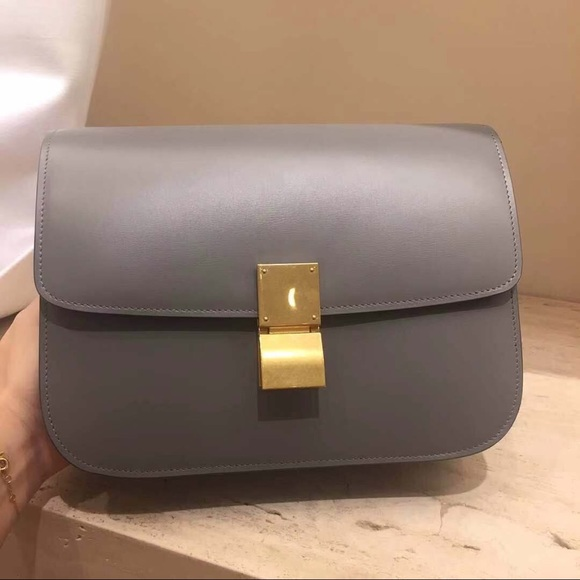66e02a1832c0 Brand New CÉLINE Classic Box in Light Grey
